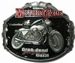 Moto Guzzi Motorcycle Belt Buckle with display stand. Code TK5